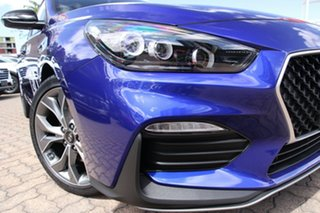 2020 Hyundai i30 PD.V4 MY21 N Line Intense Blue 7 Speed Auto Dual Clutch Hatchback.