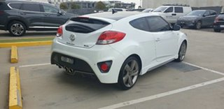 2014 Hyundai Veloster FS3 SR Coupe Turbo Crystal White 6 Speed Sports Automatic Hatchback.
