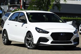 2020 Hyundai i30 PD.V4 MY21 N Line Polar White 7 Speed Auto Dual Clutch Hatchback.