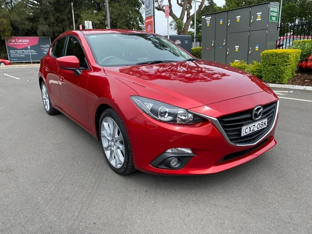Used Mazda 3 BM5438 SP25 SKYACTIV-Drive Botany, 2015 Mazda 3 BM5438 SP25 SKYACTIV-Drive Red 6 Speed Sports Automatic Hatchback