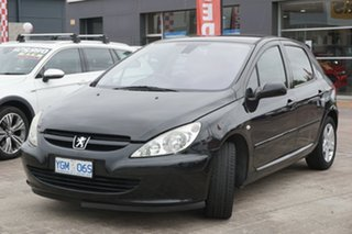 2003 Peugeot 307 T5 MY03 XS Black 4 Speed Sports Automatic Hatchback