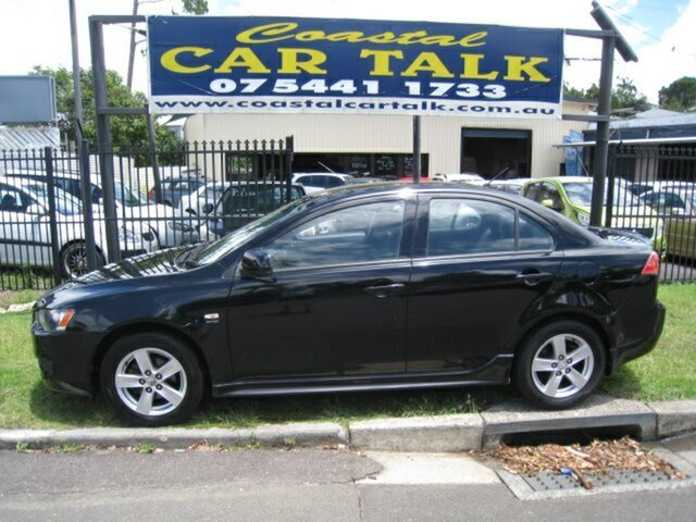 Used Mitsubishi Lancer CJ VR Nambour, 2008 Mitsubishi Lancer CJ VR Black 6 Speed CVT Auto Sequential Sedan