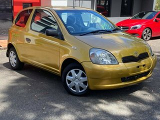 2000 Toyota Echo NCP10R Gold Dust 4 Speed Automatic Hatchback.