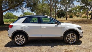2020 Volkswagen T-ROC A1 MY21 110TSI Style Pure White/Black Roof 8 Speed Sports Automatic Wagon