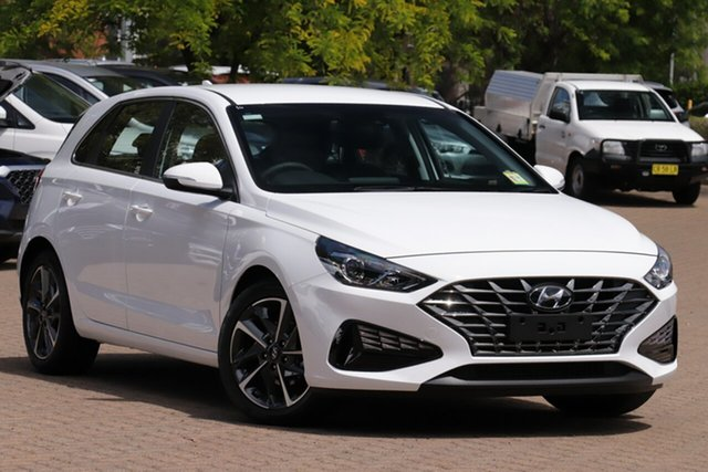 New Hyundai i30 PD.V4 MY21 Active Nunawading, 2020 Hyundai i30 PD.V4 MY21 Active Polar White 6 Speed Sports Automatic Hatchback