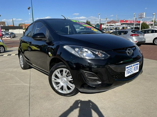 Used Mazda 2 DE10Y2 MY12 Neo Victoria Park, 2012 Mazda 2 DE10Y2 MY12 Neo Black 5 Speed Manual Hatchback