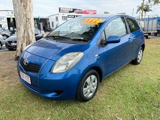 2008 Toyota Yaris NCP90R MY09 YR Blue 4 Speed Automatic Hatchback.