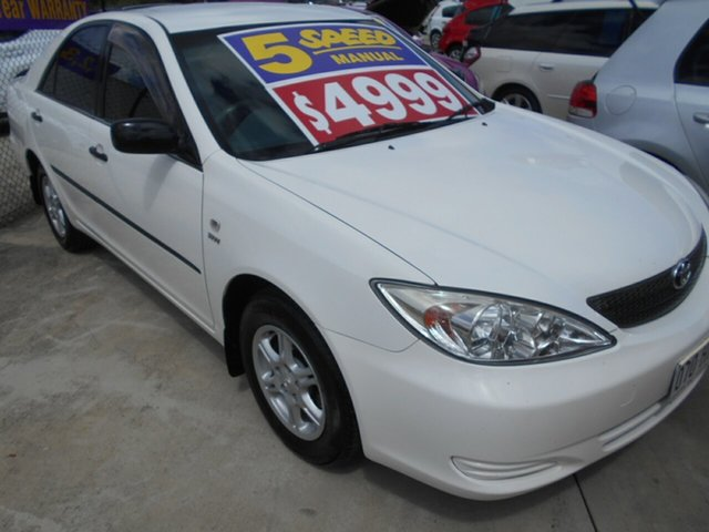Used Toyota Camry ACV36R Altise Springwood, 2003 Toyota Camry ACV36R Altise White 5 Speed Manual Sedan