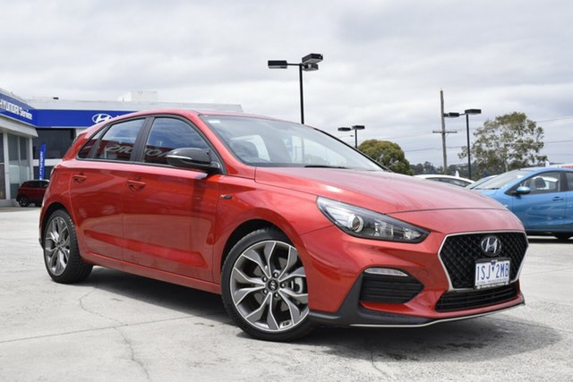 Used Hyundai i30 PD.3 MY20 N Line D-CT Ferntree Gully, 2020 Hyundai i30 PD.3 MY20 N Line D-CT Lava Orange 7 Speed Sports Automatic Dual Clutch Hatchback