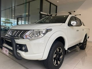 2015 Mitsubishi Triton MQ MY16 Exceed Double Cab White 5 Speed Sports Automatic Utility