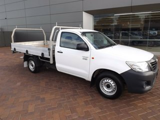 2014 Toyota Hilux TGN16R MY14 Workmate 4x2 5 Speed Manual Cab Chassis.