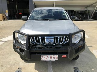 2015 Mitsubishi Triton MQ MY16 GLX Double Cab Silver 5 Speed Sports Automatic Utility.
