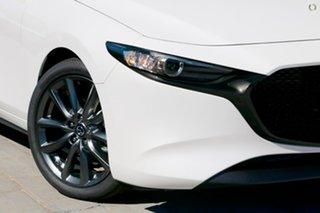 2020 Mazda 3 BP2H7A G20 SKYACTIV-Drive Evolve White 6 Speed Sports Automatic Hatchback.