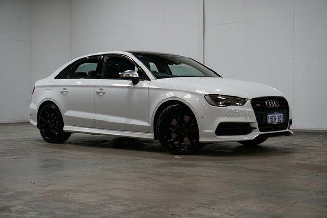 Used Audi S3 8V MY16 S Tronic Quattro Welshpool, 2016 Audi S3 8V MY16 S Tronic Quattro White 6 Speed Sports Automatic Dual Clutch Sedan