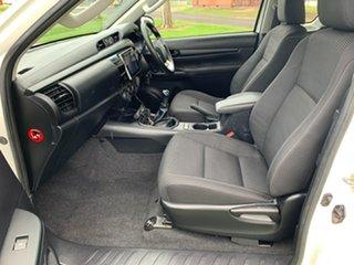 2017 Toyota Hilux GUN126R SR Extra Cab Glacier White 6 Speed Manual Utility