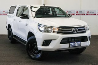 2016 Toyota Hilux GUN126R SR Double Cab Glacier White 6 Speed Sports Automatic Utility.