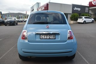 2014 Fiat 500 Series 3 Pop Dualogic Blue 5 Speed Sports Automatic Single Clutch Hatchback