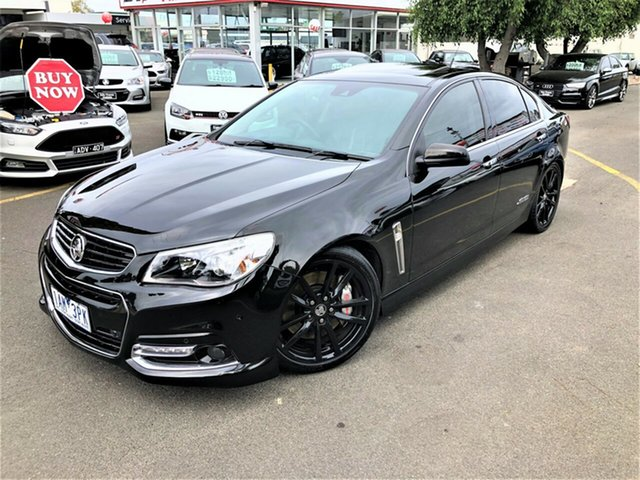 Used Holden Commodore VF MY14 SS V Redline Seaford, 2013 Holden Commodore VF MY14 SS V Redline Black 6 Speed Manual Sedan