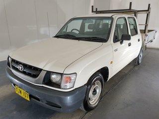 2003 Toyota Hilux RZN149R MY02 4x2 White 5 Speed Manual Utility.