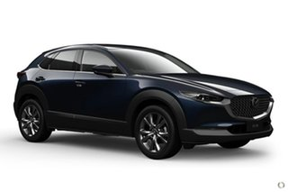 2020 Mazda CX-30 DM4WLA G25 SKYACTIV-Drive i-ACTIV AWD Astina Blue 6 Speed Sports Automatic Wagon.