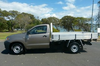 2008 Toyota Hilux TGN16R MY08 Workmate 4x2 Gold 5 Speed Manual Cab Chassis
