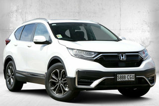 2020 Honda CR-V RW MY21 VTi FWD L7 Platinum White 1 Speed Constant Variable Wagon.