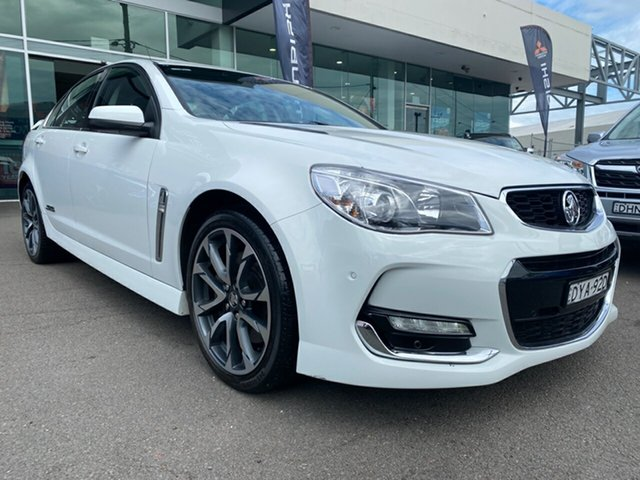 Used Holden Commodore VF II MY16 SS V Cardiff, 2015 Holden Commodore VF II MY16 SS V White 6 Speed Manual Sedan