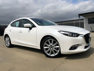 2016 Mazda 3 BN5438 SP25 SKYACTIV-Drive White, Crystal Pearl 6 Speed Sports Automatic Hatchback.