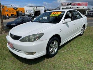 2003 Toyota Camry ACV36R Sportivo White 5 Speed Manual Sedan.