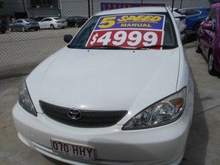 2003 Toyota Camry ACV36R Altise White 5 Speed Manual Sedan.
