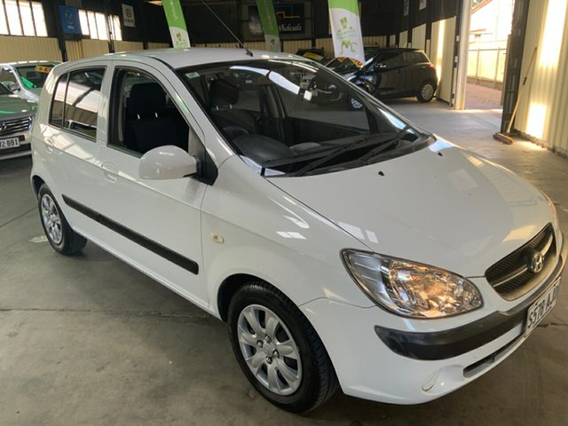Used Hyundai Getz TB MY09 S Hampstead Gardens, 2010 Hyundai Getz TB MY09 S White 5 Speed Manual Hatchback