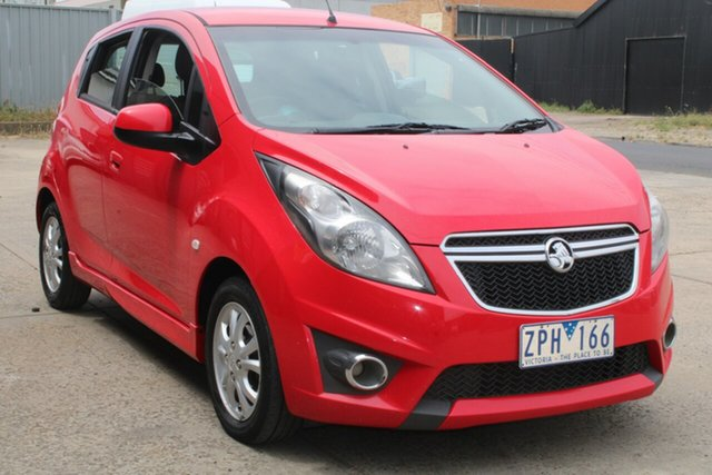Used Holden Barina Spark MJ MY13 CD West Footscray, 2013 Holden Barina Spark MJ MY13 CD Red 5 Speed Manual Hatchback