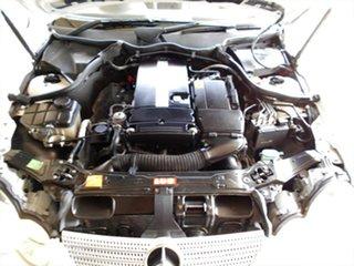 2005 Mercedes-Benz C-Class CL203 MY2005 C200 Kompressor Sports Evolution White 5 Speed Automatic