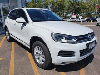 2012 Volkswagen Touareg 7P MY12.5 V6 TDI Tiptronic 4MOTION White 8 Speed Sports Automatic Wagon.