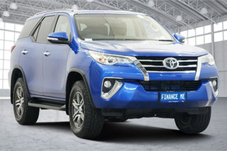 2016 Toyota Fortuner GUN156R GXL Blue 6 Speed Automatic Wagon.