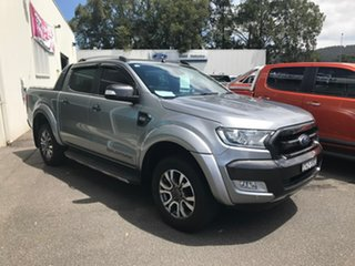 2015 Ford Ranger PX Wildtrak Double Cab Silver 6 Speed Sports Automatic Utility.