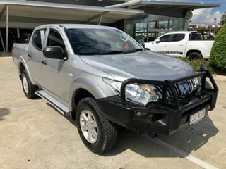 2015 Mitsubishi Triton MQ MY16 GLX Double Cab Silver 5 Speed Sports Automatic Utility