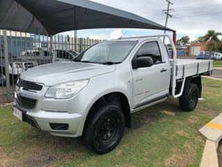 2014 Holden Colorado RG MY15 DX (4x4) Silver 6 Speed Manual Cab Chassis.