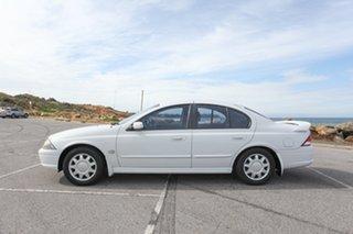 2002 Ford Falcon AU III SR Forte White 4 Speed Automatic Sedan