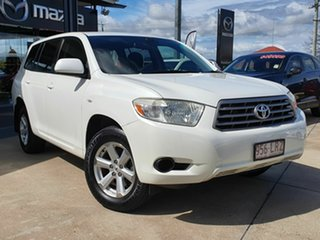 2009 Toyota Kluger KXR White 5 Speed Automatic Wagon.