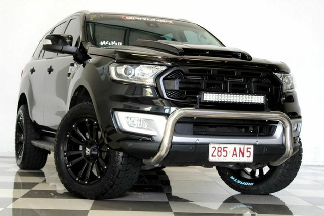 Used Ford Everest UA MY17 Trend Burleigh Heads, 2017 Ford Everest UA MY17 Trend Black 6 Speed Automatic SUV