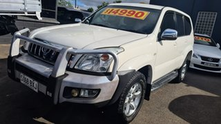 2004 Toyota Landcruiser Prado GRJ120R GXL (4x4) White 4 Speed Automatic Wagon.