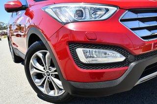 2013 Hyundai Santa Fe DM MY13 Highlander Red/Black 6 Speed Sports Automatic Wagon.