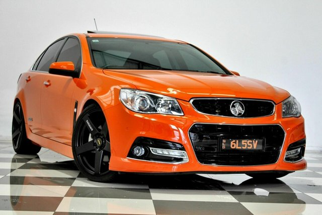 Used Holden Commodore VF SS-V Burleigh Heads, 2014 Holden Commodore VF SS-V Orange 6 Speed Manual Sedan