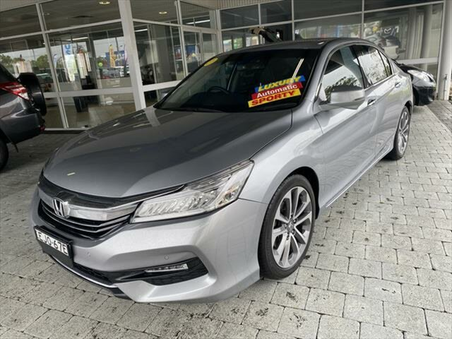 Used Honda Accord VTi-L Taree, 2017 Honda Accord VTi-L Silver Sports Automatic Sedan
