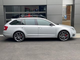 2015 Skoda Octavia NE MY15.5 RS DSG 135TDI Silver 6 Speed Sports Automatic Dual Clutch Wagon.