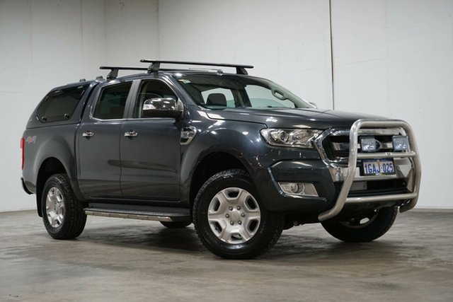 Used Ford Ranger PX MkII XLT Double Cab Welshpool, 2016 Ford Ranger PX MkII XLT Double Cab Grey 6 Speed Sports Automatic Utility