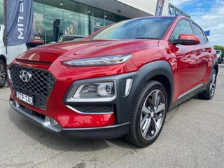 2018 Hyundai Kona OS.2 MY19 Highlander 2WD Red 6 Speed Sports Automatic Wagon.