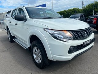 2017 Mitsubishi Triton MQ MY18 GLX+ Double Cab White 5 Speed Sports Automatic Utility