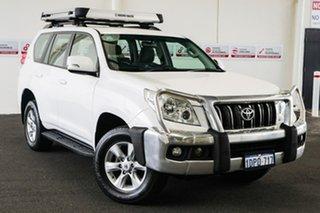 2011 Toyota Landcruiser Prado KDJ150R GXL (4x4) Glacier White 5 Speed Sequential Auto Wagon.